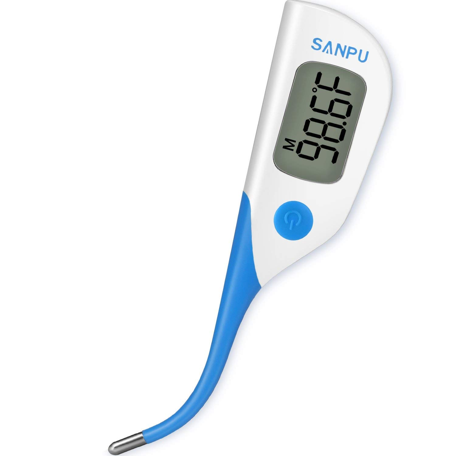 SANPU Digital Basal Oral Thermometer Fast 8 Seconds Reading Rectal and Armpit...