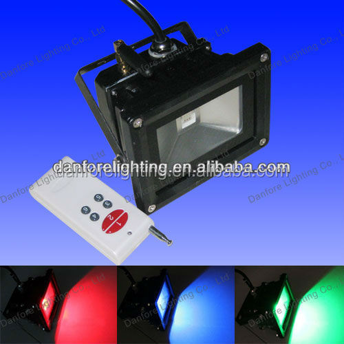 10W 12V IP65 Outdoor use RGB DMX Supportable LED Floodlight