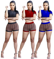Wholesale Magicmk 2019 sexy Women's short pants two pieces printed pattern Rompers Jumpsuit