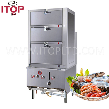 Sea Foodl Gas Operated Food Steamer Cabinet For Hotel Restaurants, Schools,  Kitchen Equipment