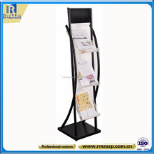 Customized Free standing Metal Newspaper Rack For Hotel