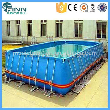 Hot sale ourdoor indoor rectangle steel frame portable swimming pool buy portable swimming for Barnstaple swimming pool timetable