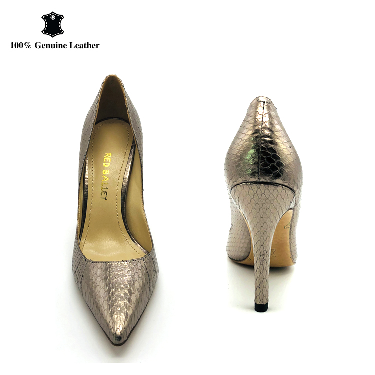 82e92e9e05b custom gold fish scale leather ladies heels pumps women high heel shoes,  View ladies shoes high heel, OEM Product Details from Guangzhou Seven&Seven  ...