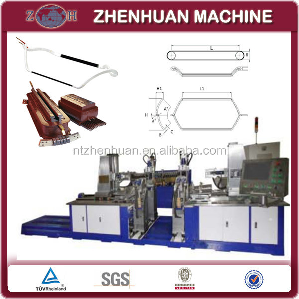 High-voltage coil forming machine with automatic