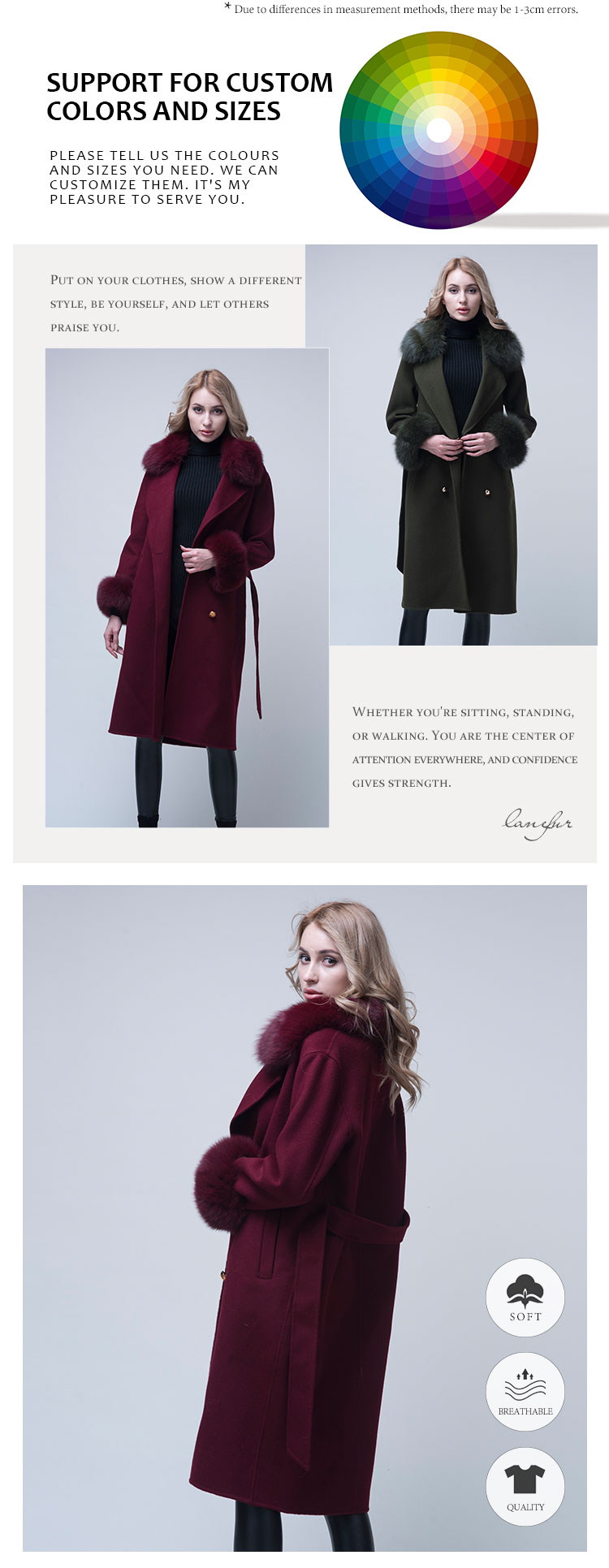 long length soft red trench coats ladies