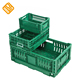 Collapsible folding plastic vegetable fruit tote box crate