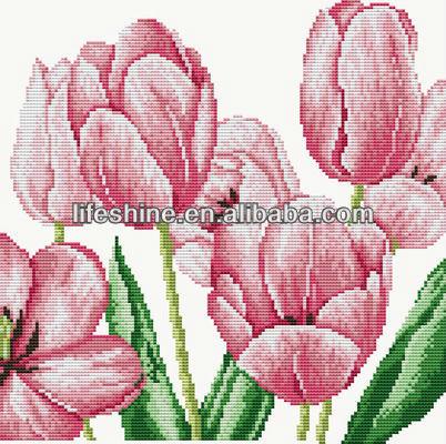 Flores Chino Patrones De Punto De Cruz Tulip Conto Cruz Puntada