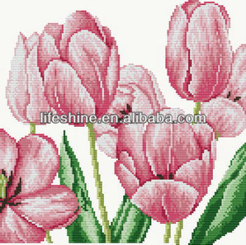Flowers Chinese Cross Stitch Patterns TulipCounted Cross Stitch Mesmerizing Cross Stitch Flower Patterns