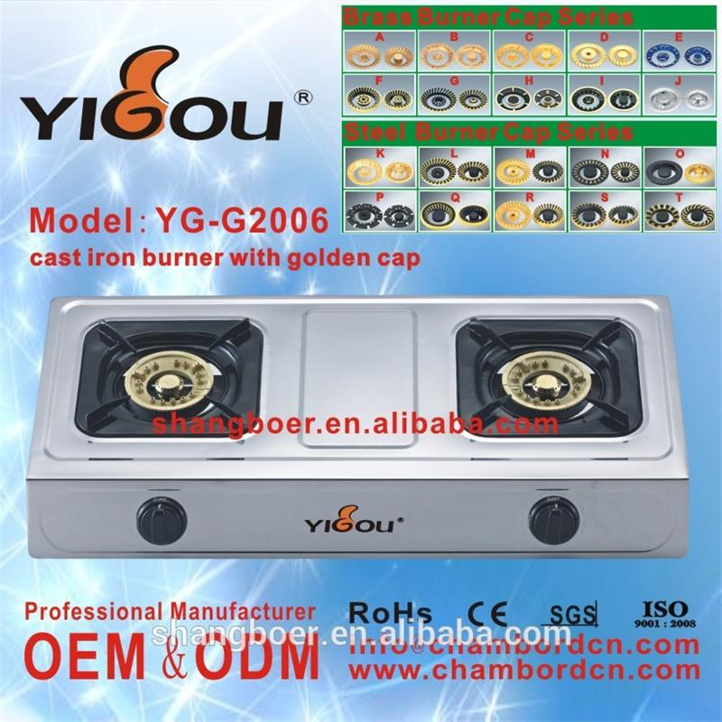 YG-G2006 three burner built in gas stove/ cast iron gas stove 3 burners/ induction cooker control panel
