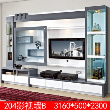 Living Room Furniture Wood Lcd Tv Wall Unit Design Buy