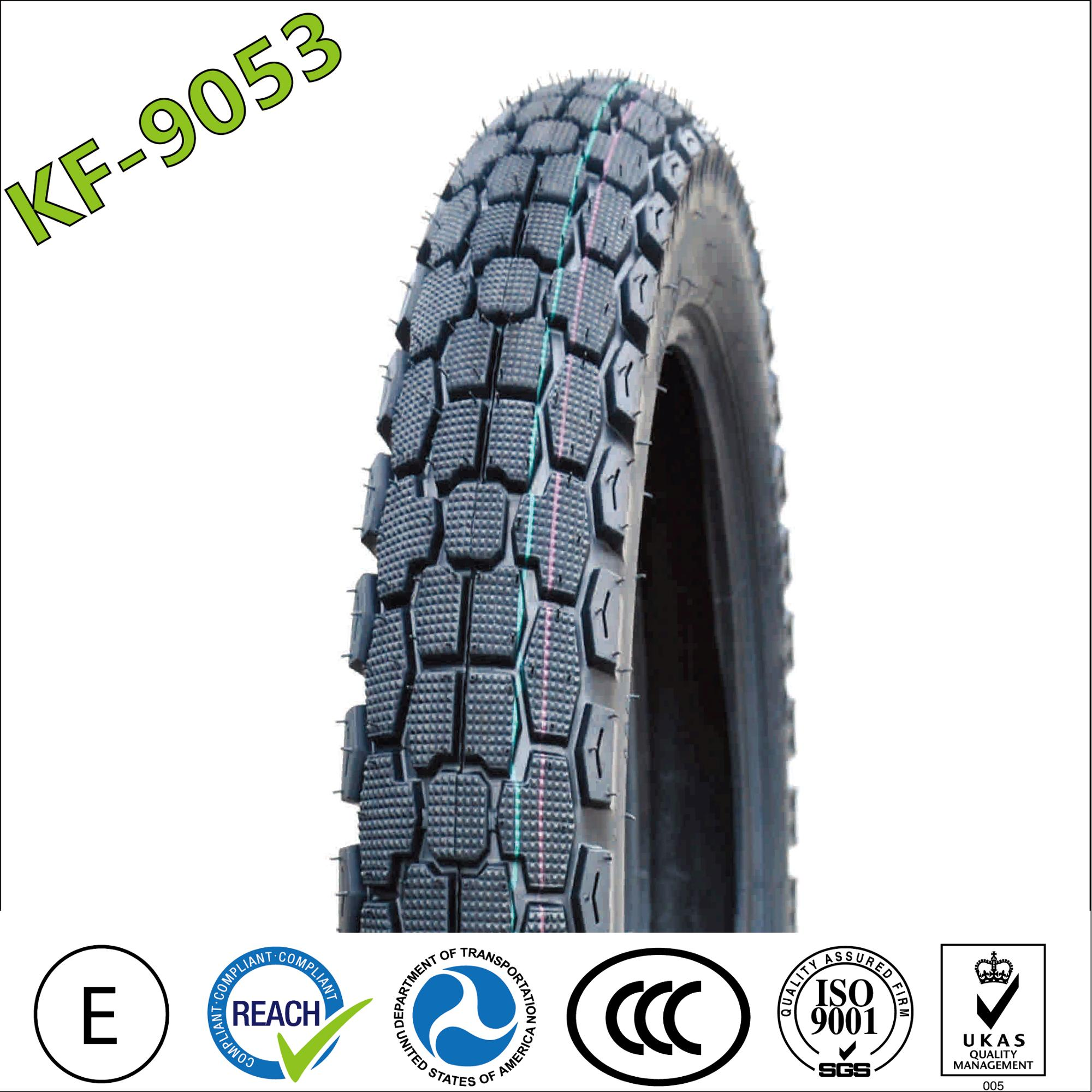 High performance factory crossed motorcycle tire 2.25x17 2.75-18