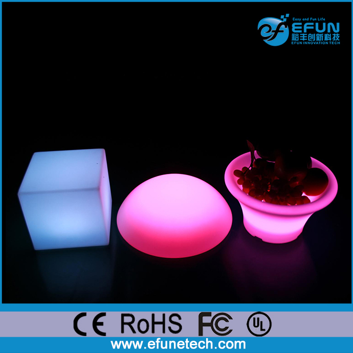 eco pe material waterproof rechargeable rgb color changing 3d led mood cube,led ice cube lighting