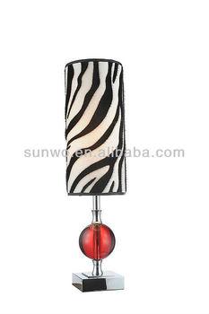 Zebra Stripe Lamp Shade Red Ball Decorating Lamp Desk Lamp