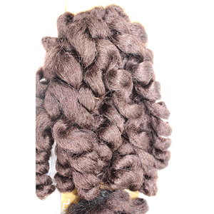 Hot Sale Pre Curl Synthetic Afro Kinky Hair Weave Bulk High Temperature Fiber Crochet Twist Braids Hair Weft