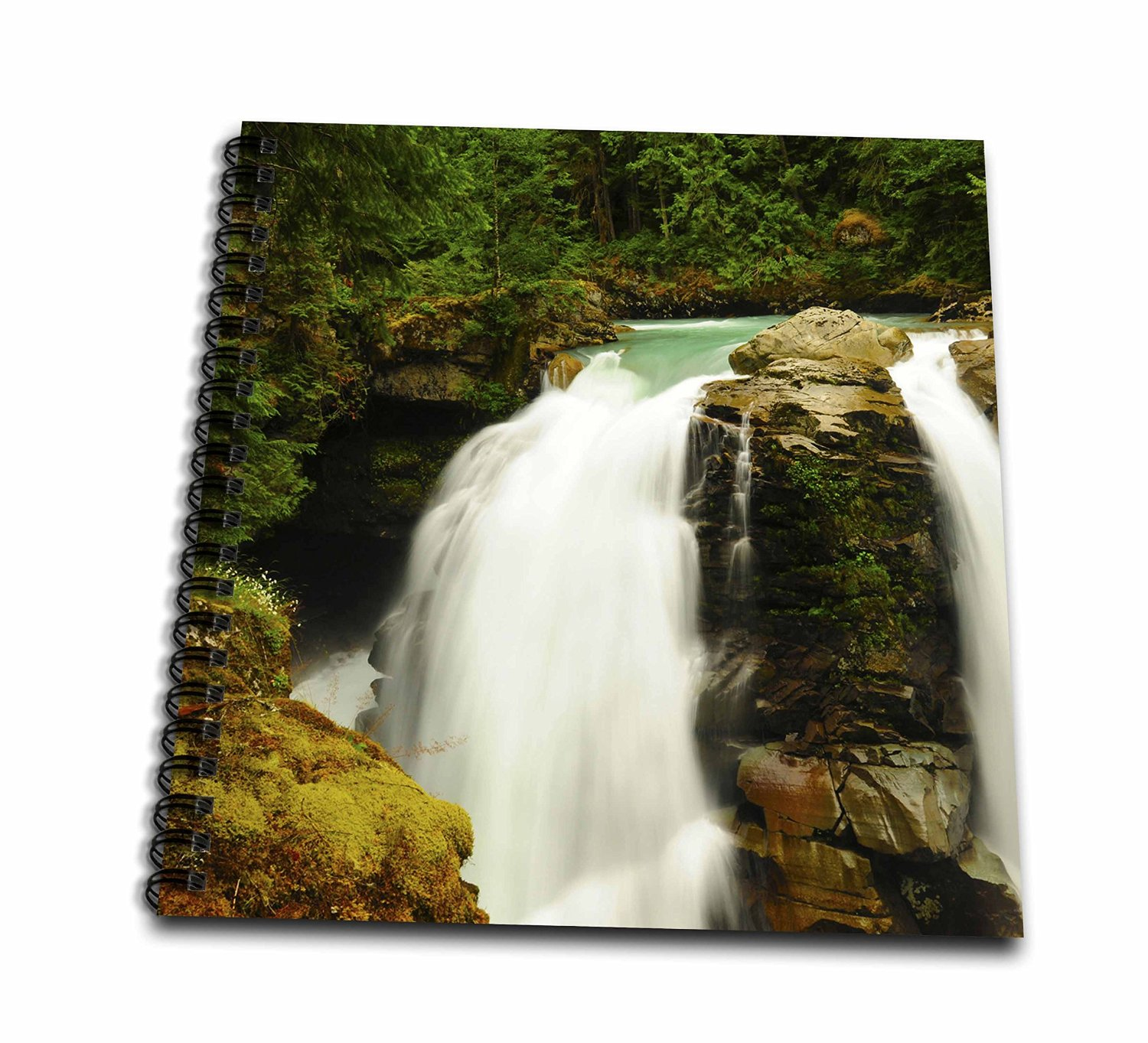Danita Delimont - Waterfalls - Hooksack Waterfalls, Washington, USA - US48 MHE0032 - Michel Hersen - Memory Book 12 x 12 inch (db_148375_2)