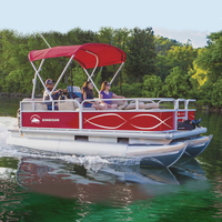 Kinocean 16' Electric Best Used Small Aluminum Pontoon Boats for sale
