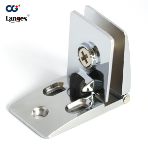 Zinc alloy glass clamp hinge for glass door