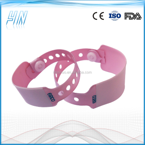 YN - 3700 Wholsale mother and baby write on hospital id wristbands ,baby wristband anti lost alarm