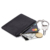 RFID mini leather credit card holder key wallet with keyring and ID window card slot