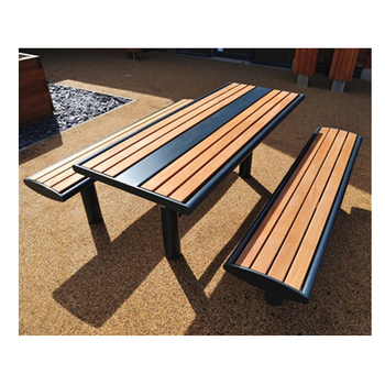 Garden furniture table and bench set