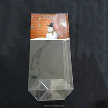 custom print cellophane opp plastic bag with square bottom