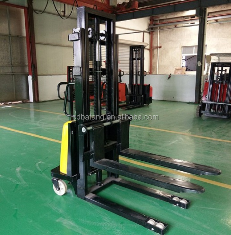 Electric forklift truck small pallet stacker with CE certificate