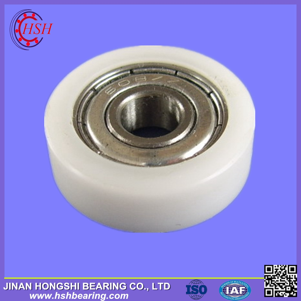 China Nylon Small Deep Groove Ball Bearings Roller Plastic Pulley Wheels with Bearings for Door Windows