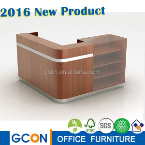 solid wood furniture/ glass display reception desk/display counter
