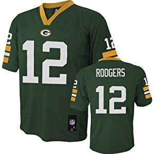 Green Bay Packers Aaron Rodgers Green Youth NFL Jersey