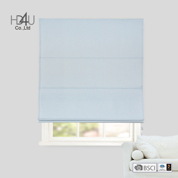 2018 latest fashionable plain colored window roller cord lock roman blind
