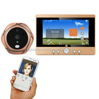 720p Wifi Wireless Digital Peephole Door Viewer 5\
