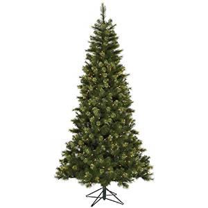 Vickerman Pre-Lit Jack Pine Slim Artificial Christmas Tree with Clear Lights, 7.5'