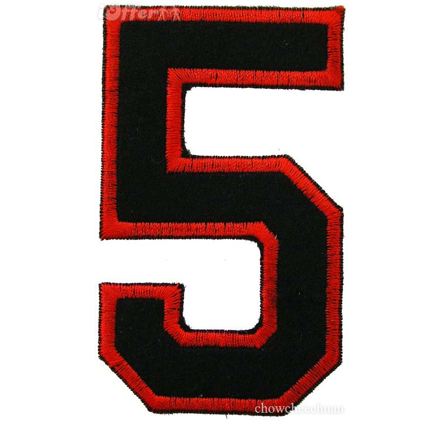 custom embroidered number patch/ car number iron on patch
