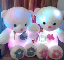 HI CE wonderful LED light 45cm Teddy bear for Valentine's day ,creative birthday gift Teddybear for birthday gift