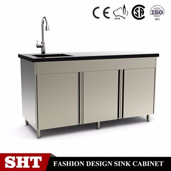 Commercial Kitchen Base Cabinet Counter/Heavy Duty Stainless Steel Kitchen  Sink Cabinet For Restaurant Furnitures