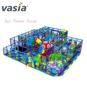 hot sale children indoor soft wooden playground for shopping mall play centre