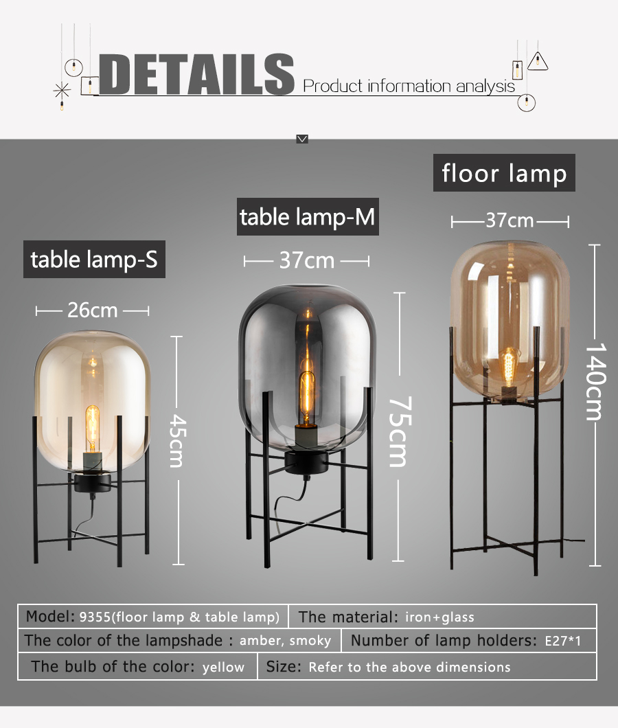New design hot selling famous iron glass desk lamp restaurant table lamp