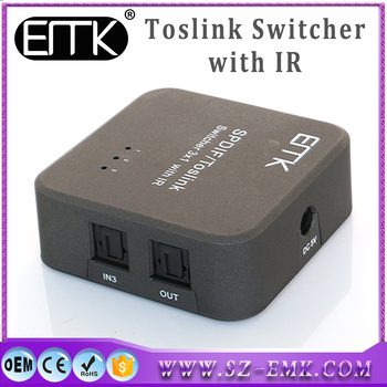 Hot New Way Spdif Digital Fiber Optical Toslink Audio Cable - 4 way toslink switch box