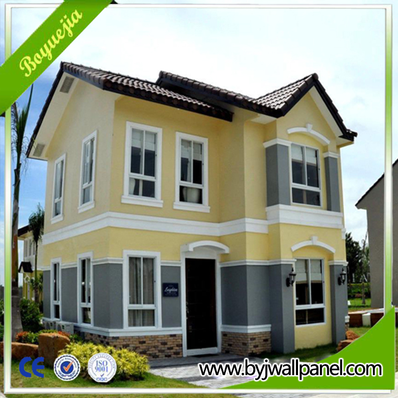 luxury prefabricated house build by eps sandwich wall panel prefab house