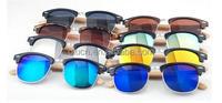 fashion PC half frame bamboo temple optical sunglasses 2016