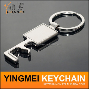 Best price rectangle shape phone holder zinc alloy keychain manufacturers in china custom