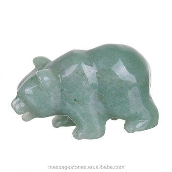 Wholesale bear hand carved animals gemstone carvings buy