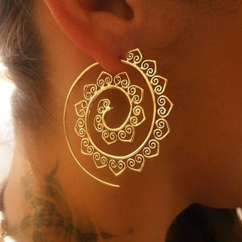 New arrival fashion <strong>earrings</strong> Exaggerated whirlpool gear <strong>earrings</strong> personalized circle spiral <strong>earrings</strong>