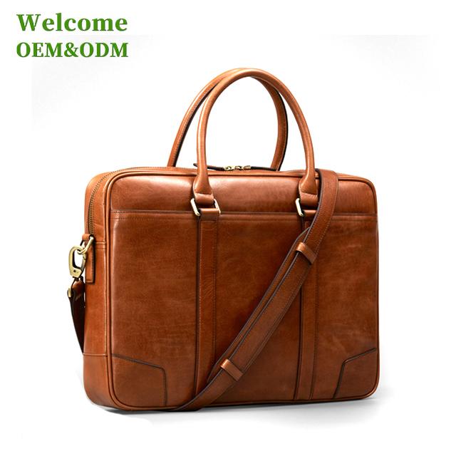 fcefac0236536 طفل الفاخرة المخصصة هدية التنفيذي محمول رجل جلد طبيعي حقيبة-حقائب ...