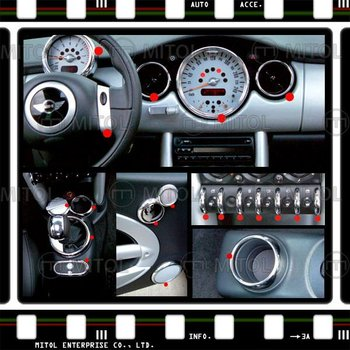Mini Cooper Interior >> Untuk Mini Cooper 01 06 Interior Chrome Kit Penutup Buy Interior Kit Cover Chrome Interior Kit Untuk Mini Product On Alibaba Com