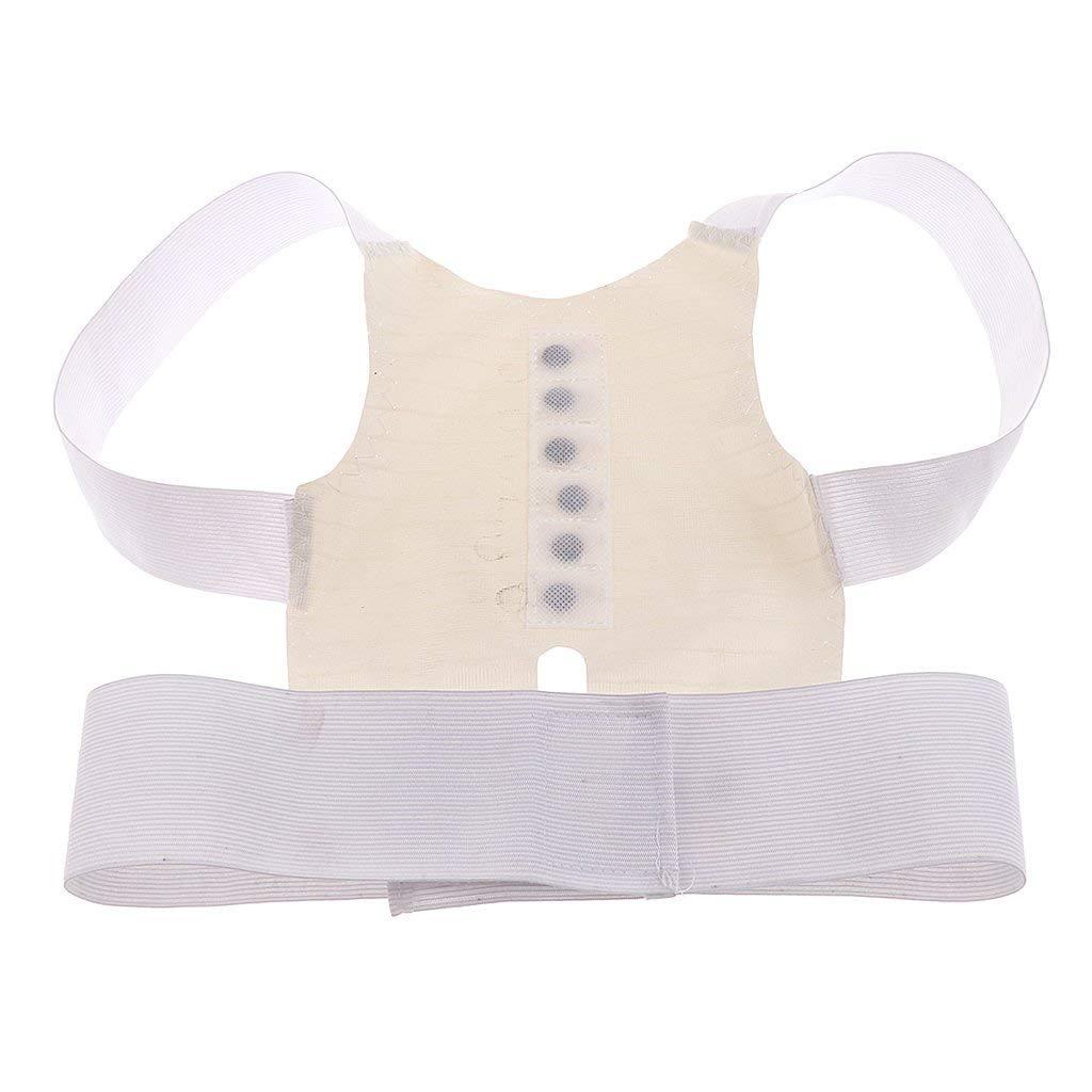 SunniMix Teen Child Magnetic Back Slouching Posture Corrector Belt Shoulder Correction Straighten Support Brace Strap Poor Posture Corrective Belt - M