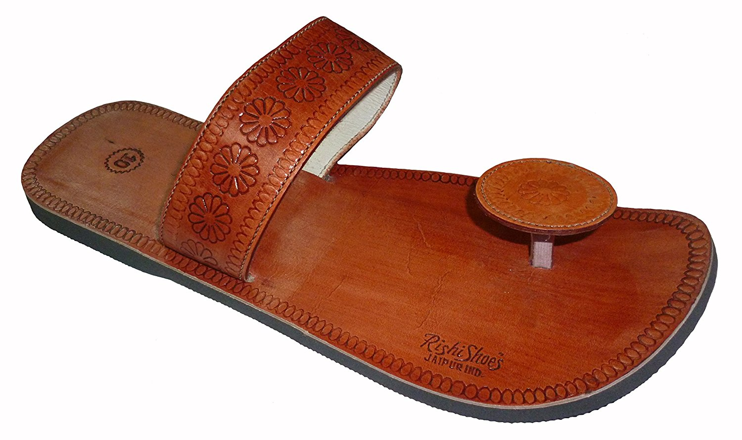 0551d06a1 Get Quotations · Handcrafted Luxury Men s Rajasthani Leather Slippers