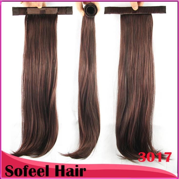 20 '' волос хвост, конский хвост наращивание волос, хвост шиньоны