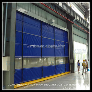 rapid speed automatic forlklift movement pvc garage folding door