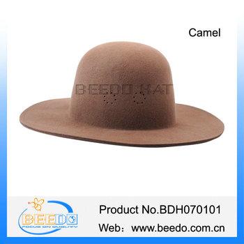 100% Wool Felt Mens Bowler Top Hard Akubra Hats - Buy Akubra ... e4934e951ec